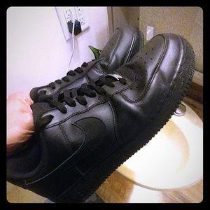 Nike Air Force 1 low black/black sku#315122-001